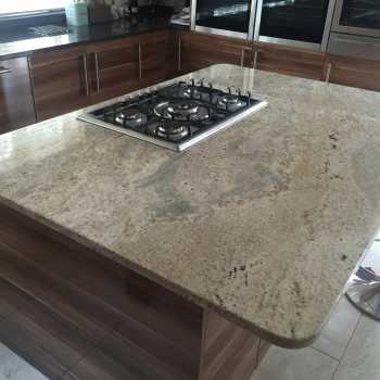 light grey marble worktop