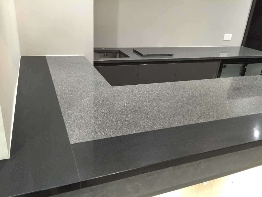 Stone worktops stevenage stone bathrooms welwyn cawdor for Light grey granite sink
