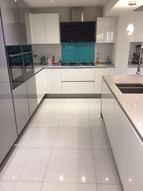 marble worktops in kitchen